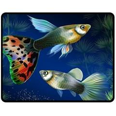 Marine Fishes Fleece Blanket (medium)