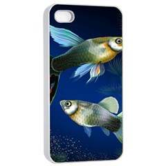 Marine Fishes Apple iPhone 4/4s Seamless Case (White)