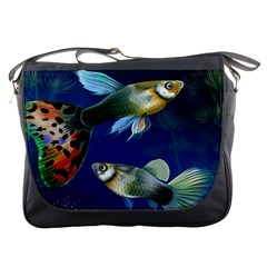 Marine Fishes Messenger Bags