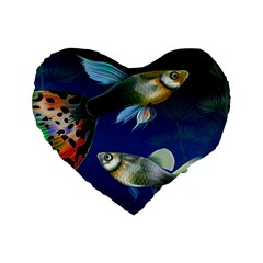 Marine Fishes Standard 16  Premium Heart Shape Cushions