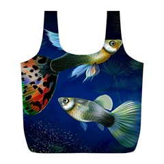 Marine Fishes Full Print Recycle Bags (L)