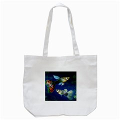 Marine Fishes Tote Bag (White)