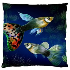 Marine Fishes Standard Flano Cushion Case (two Sides)