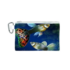 Marine Fishes Canvas Cosmetic Bag (s)