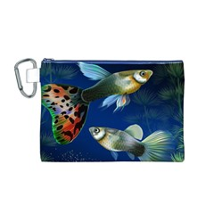 Marine Fishes Canvas Cosmetic Bag (m)