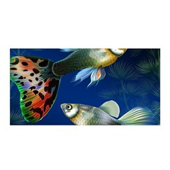 Marine Fishes Satin Wrap