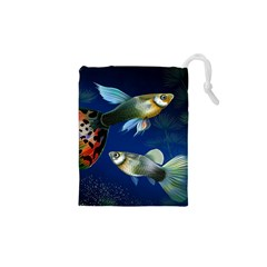 Marine Fishes Drawstring Pouches (xs)