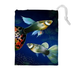 Marine Fishes Drawstring Pouches (extra Large)
