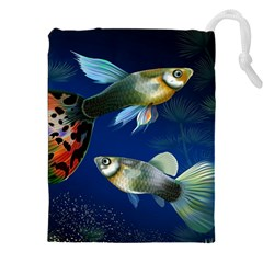 Marine Fishes Drawstring Pouches (xxl)
