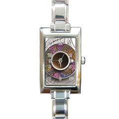 Ethnic Pattern Ornaments And Coffee Cups Vector Rectangle Italian Charm Watch
