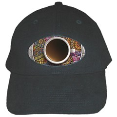 Ethnic Pattern Ornaments And Coffee Cups Vector Black Cap