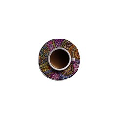 Ethnic Pattern Ornaments And Coffee Cups Vector 1  Mini Magnets