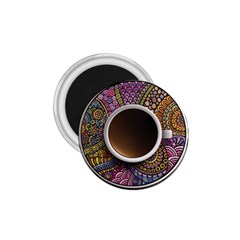 Ethnic Pattern Ornaments And Coffee Cups Vector 1.75  Magnets