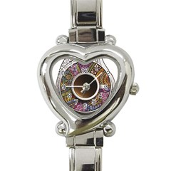 Ethnic Pattern Ornaments And Coffee Cups Vector Heart Italian Charm Watch
