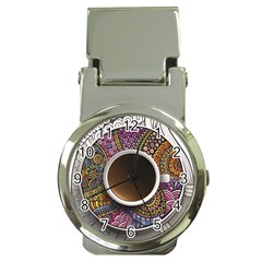 Ethnic Pattern Ornaments And Coffee Cups Vector Money Clip Watches