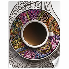 Ethnic Pattern Ornaments And Coffee Cups Vector Canvas 18  X 24