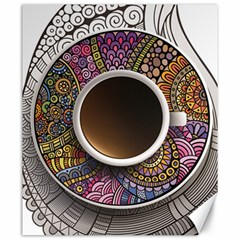 Ethnic Pattern Ornaments And Coffee Cups Vector Canvas 20  X 24