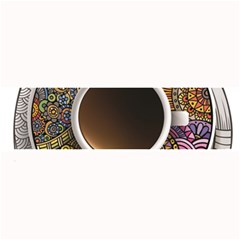 Ethnic Pattern Ornaments And Coffee Cups Vector Large Bar Mats
