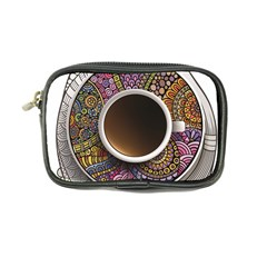 Ethnic Pattern Ornaments And Coffee Cups Vector Coin Purse