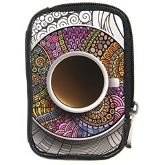 Ethnic Pattern Ornaments And Coffee Cups Vector Compact Camera Cases