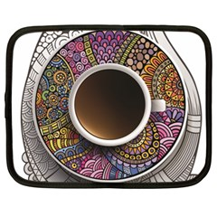 Ethnic Pattern Ornaments And Coffee Cups Vector Netbook Case (xl)