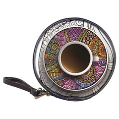 Ethnic Pattern Ornaments And Coffee Cups Vector Classic 20 Cd Wallets