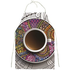 Ethnic Pattern Ornaments And Coffee Cups Vector Full Print Aprons