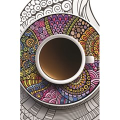 Ethnic Pattern Ornaments And Coffee Cups Vector 5 5  X 8 5  Notebooks
