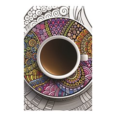 Ethnic Pattern Ornaments And Coffee Cups Vector Shower Curtain 48  x 72  (Small)