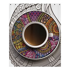 Ethnic Pattern Ornaments And Coffee Cups Vector Shower Curtain 60  X 72  (medium)