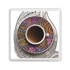 Ethnic Pattern Ornaments And Coffee Cups Vector Memory Card Reader (Square)