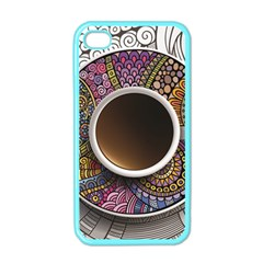 Ethnic Pattern Ornaments And Coffee Cups Vector Apple iPhone 4 Case (Color)