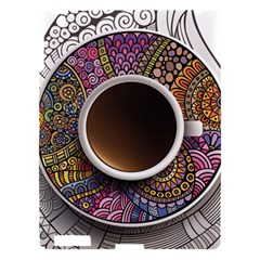 Ethnic Pattern Ornaments And Coffee Cups Vector Apple Ipad 3/4 Hardshell Case