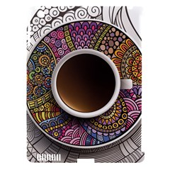 Ethnic Pattern Ornaments And Coffee Cups Vector Apple Ipad 3/4 Hardshell Case (compatible With Smart Cover)