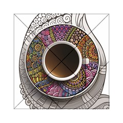 Ethnic Pattern Ornaments And Coffee Cups Vector Acrylic Tangram Puzzle (6  x 6 )