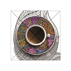 Ethnic Pattern Ornaments And Coffee Cups Vector Acrylic Tangram Puzzle (4  X 4 )