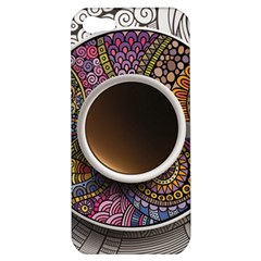 Ethnic Pattern Ornaments And Coffee Cups Vector Apple Iphone 5 Hardshell Case