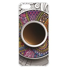 Ethnic Pattern Ornaments And Coffee Cups Vector Apple Iphone 5 Seamless Case (white)