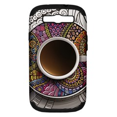 Ethnic Pattern Ornaments And Coffee Cups Vector Samsung Galaxy S Iii Hardshell Case (pc+silicone)
