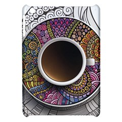 Ethnic Pattern Ornaments And Coffee Cups Vector Apple Ipad Mini Hardshell Case