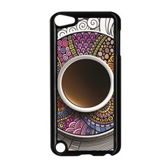 Ethnic Pattern Ornaments And Coffee Cups Vector Apple iPod Touch 5 Case (Black)