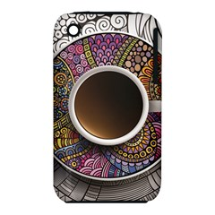 Ethnic Pattern Ornaments And Coffee Cups Vector Iphone 3s/3gs