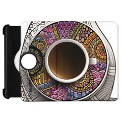 Ethnic Pattern Ornaments And Coffee Cups Vector Kindle Fire Hd 7