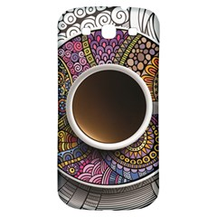 Ethnic Pattern Ornaments And Coffee Cups Vector Samsung Galaxy S3 S Iii Classic Hardshell Back Case