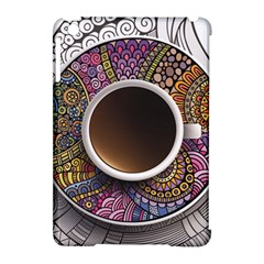 Ethnic Pattern Ornaments And Coffee Cups Vector Apple Ipad Mini Hardshell Case (compatible With Smart Cover)