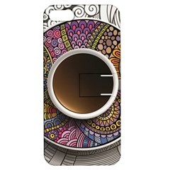 Ethnic Pattern Ornaments And Coffee Cups Vector Apple Iphone 5 Hardshell Case With Stand