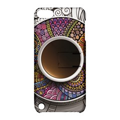 Ethnic Pattern Ornaments And Coffee Cups Vector Apple Ipod Touch 5 Hardshell Case With Stand