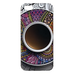 Ethnic Pattern Ornaments And Coffee Cups Vector Apple iPhone 5 Premium Hardshell Case
