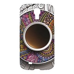 Ethnic Pattern Ornaments And Coffee Cups Vector Samsung Galaxy S4 I9500/i9505 Hardshell Case
