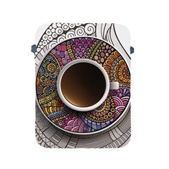 Ethnic Pattern Ornaments And Coffee Cups Vector Apple Ipad 2/3/4 Protective Soft Cases